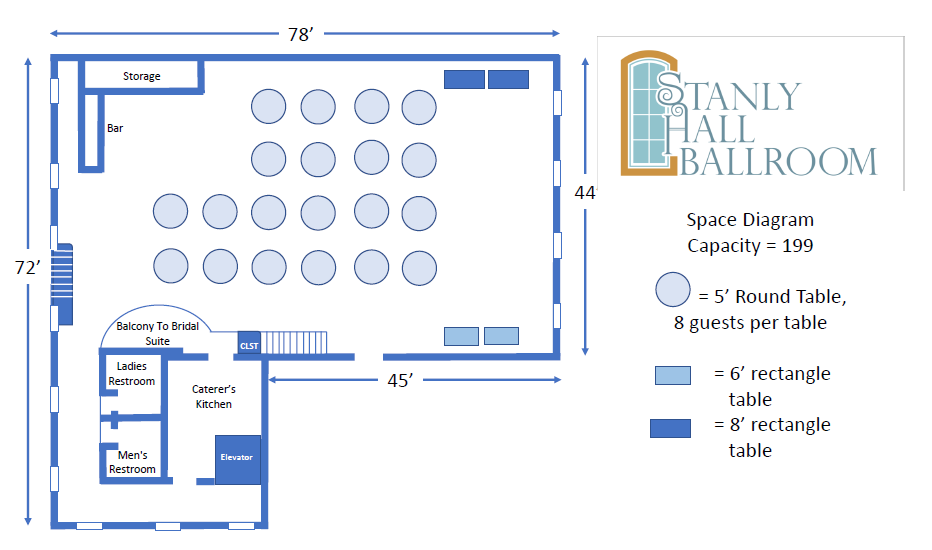 Stanly Hall Floor diagram